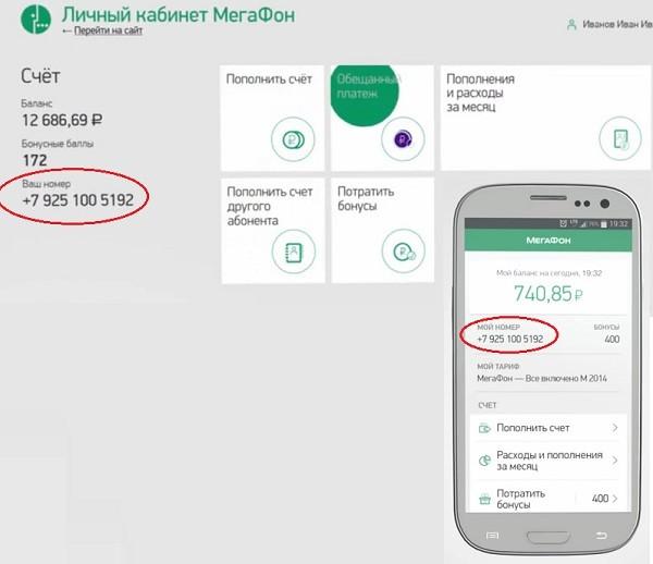 Свой номер телефона в Личном кабинете и мобильном приложении Мегафона