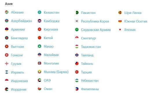 Страны, где работает Роуминг! Гудбай Мегафона - 2